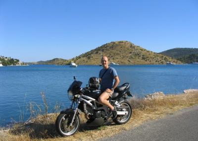 In moto in Croazia (con la SV 650)