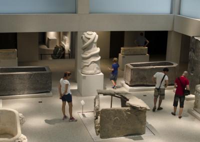 Nel museo egizio, sull'isola dei musei