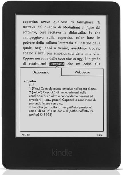 Kindle Touch di Amazon per gli ebook